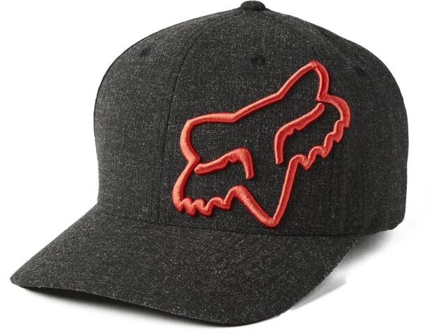 Fox Clouded 2.0 Flexfit Hat Men, czarny/pomarańczowy
